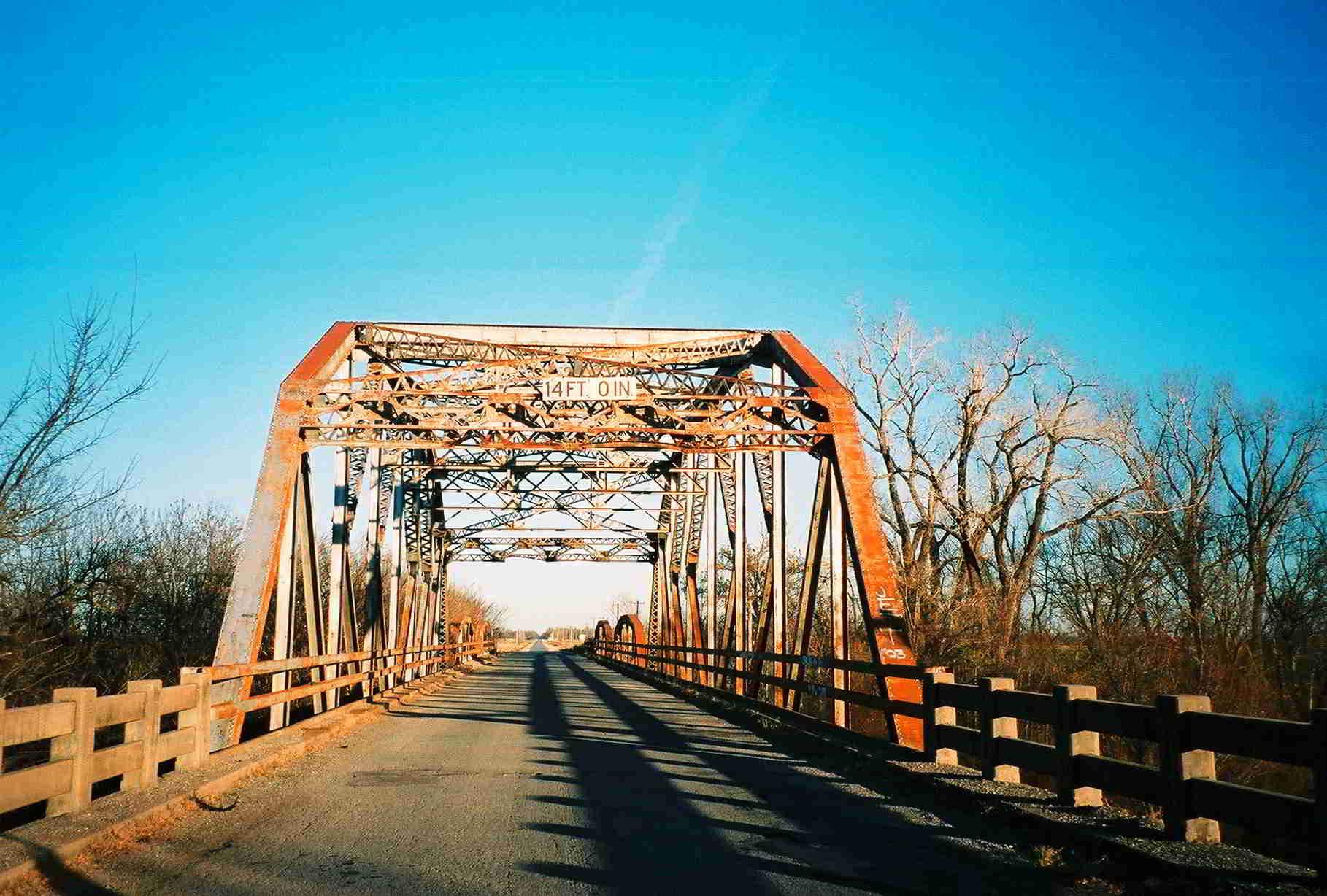 Truss Bridges In Oklahoma Warren Bridge Diagram The First Was Probably A Above 1945 Example Of Portal
