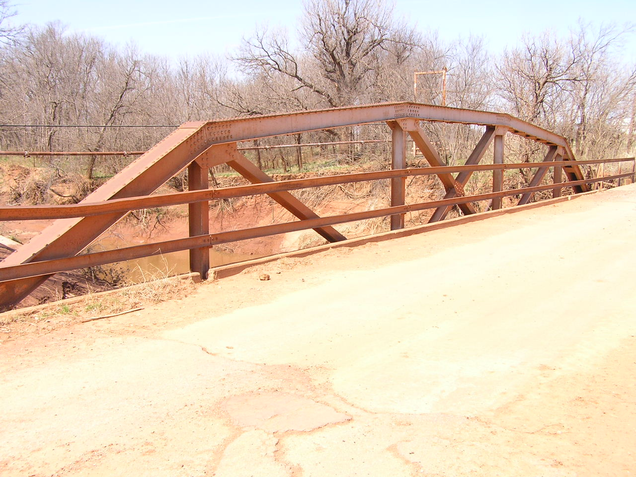 Truss Bridges In Oklahoma Warren Bridge Diagram The First Was Probably A Above Typical Early Example Of Channel Rail From 1921 Note This Railing Continues Onto Approach Span