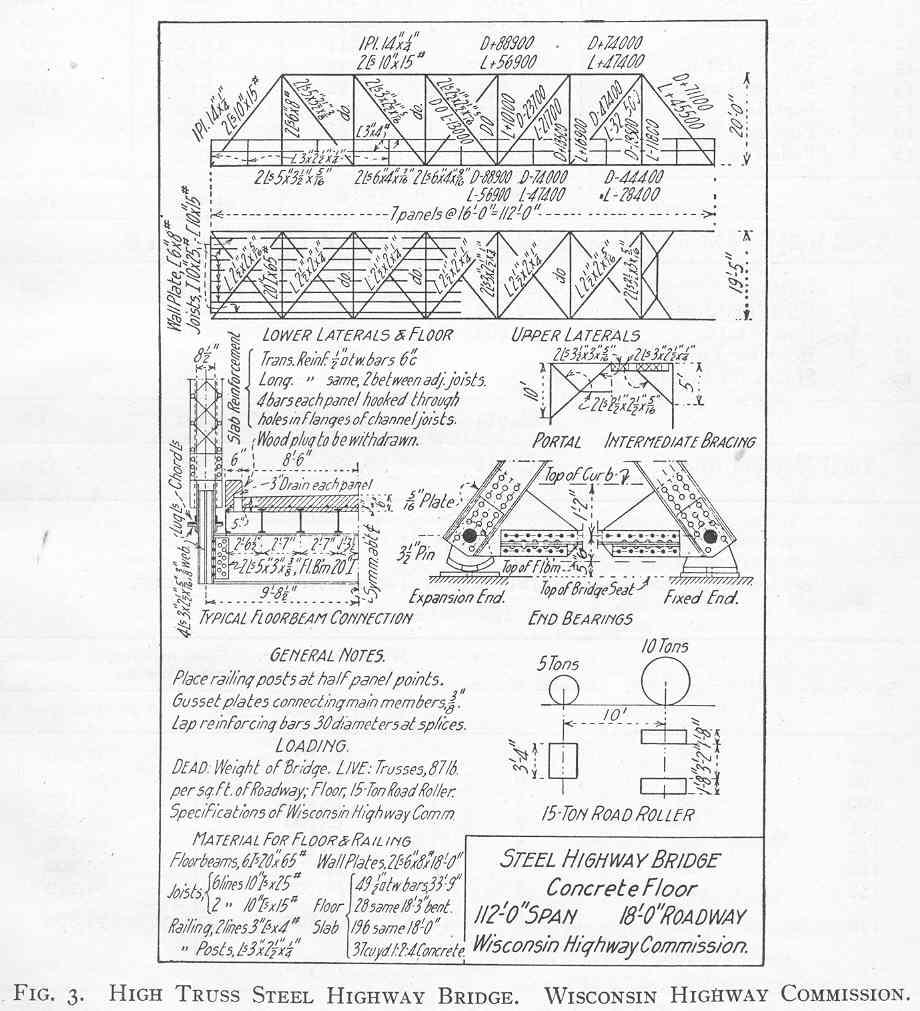 Truss Bridge Plans And Parts Warren Diagram Component Inside Through Spans
