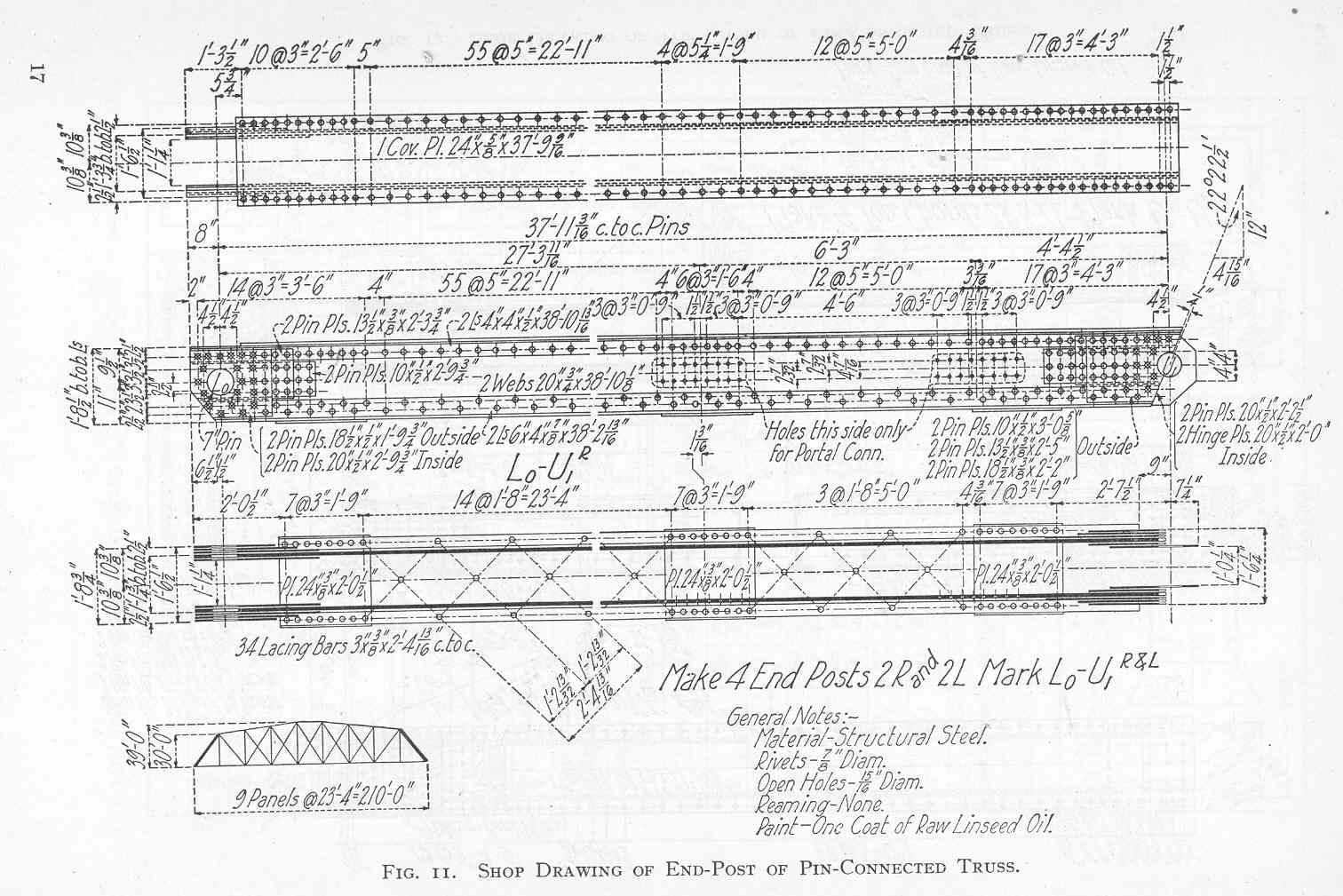 Truss Bridge Plans And Parts Warren Diagram Component Inside Details Of Members In Pin Connected Endposts