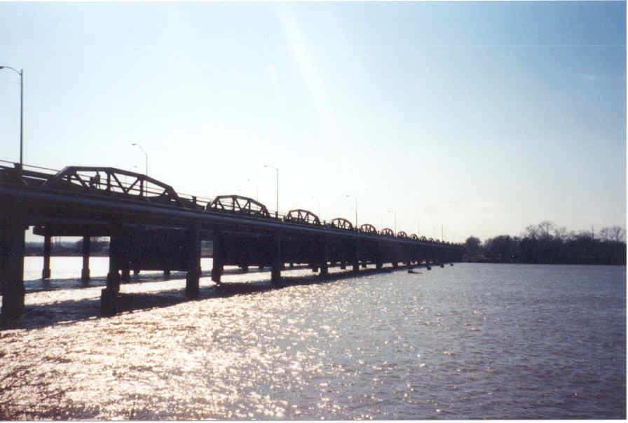 Jenks Bridge Across The Arkansas River At Jenks